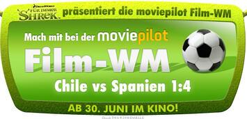 Bild zu:  Shrek präsentiert Film-WM Chile vs Spanien