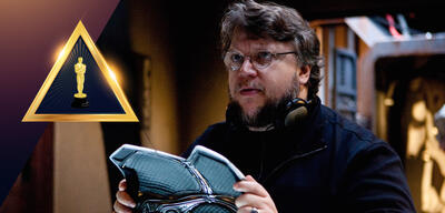 Guillermo del Toro am Set von Shape of Water