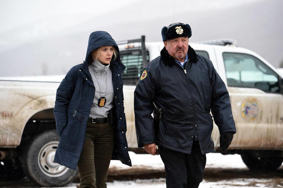 Wind River mit Elizabeth Olsen und Graham Greene