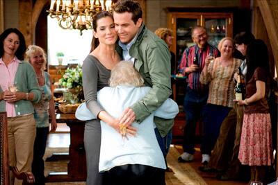 Ryan Reynolds, Sandra Bullock und Betty White in Selbst ist die Braut