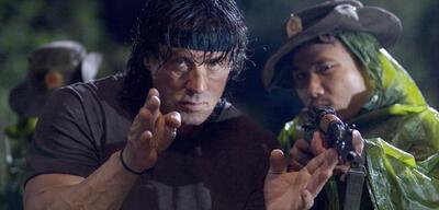 Sylvester Stallone als John Rambo, die alte Säule