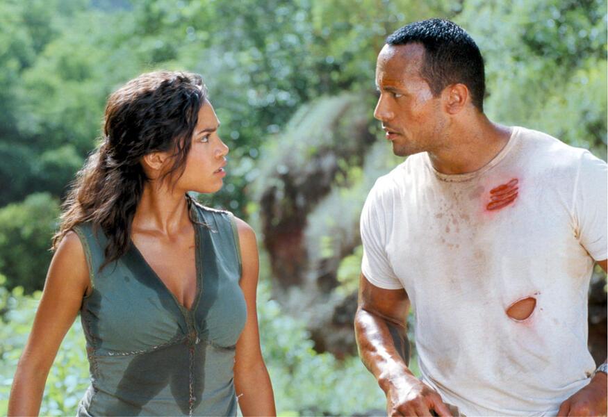 Welcome to the Jungle mit Dwayne Johnson und Rosario Dawson