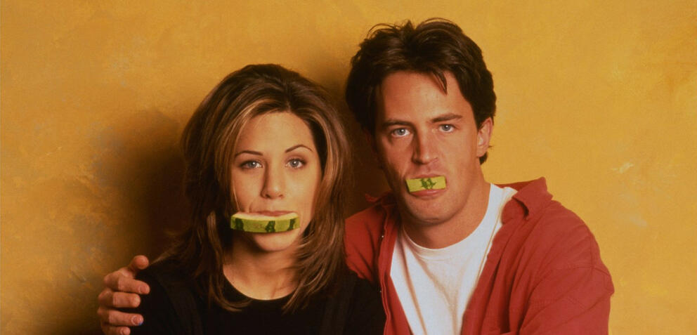 Jennifer Aniston und Matthew Perry in Friends