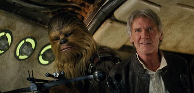 Chewbacca und Han Solo in Star Wars 7