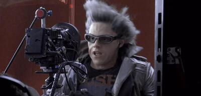 Evan Peters bei den Dreaharbeiten zu X-Men: Apocalypse