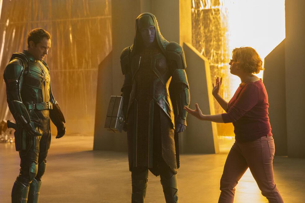 Captain Marvel mit Jude Law, Lee Pace und Anna Boden