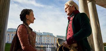 Helen Mirren und Jason Clarke in Catherine the Great
