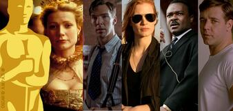 Shakespeare in Love, The Imitation Game, Zero Dark Thirty, Selma, A Beautiful Mind