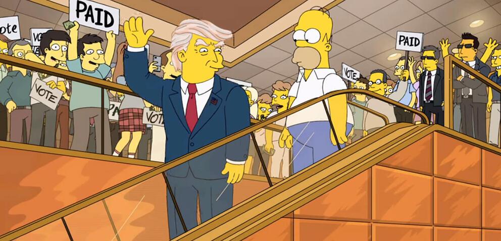 Donald Trump in Die Simpsons