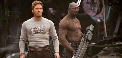 Chris Pratt und Dave Bautista in Guardians of the Galaxy Vol. 2