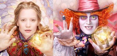 Mia Wasikowska und Johnny Depp