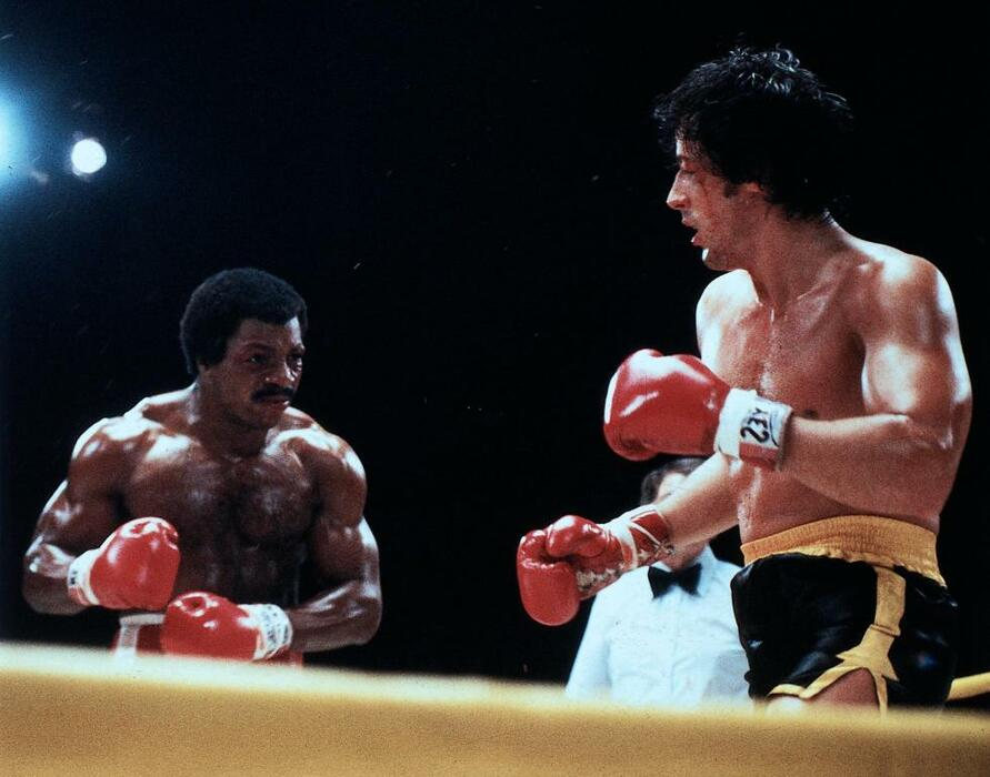 Rocky II mit Sylvester Stallone und Carl Weathers