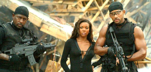Martin Lawrence, Gabrielle Union und Will Smith in Bad Boys II