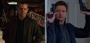 Matt Damon in Jason Bourne (l.) und Jeremy Renner in Das Bourne Vermächtnis (r.)