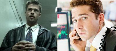Brad Pitt als Inspektor (l) und Shia LaBeouf als Börsenmakler (r)