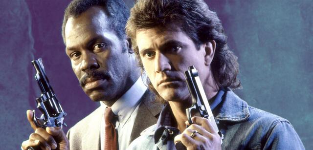 Danny Glover und Mel Gibson in Lethal Weapon