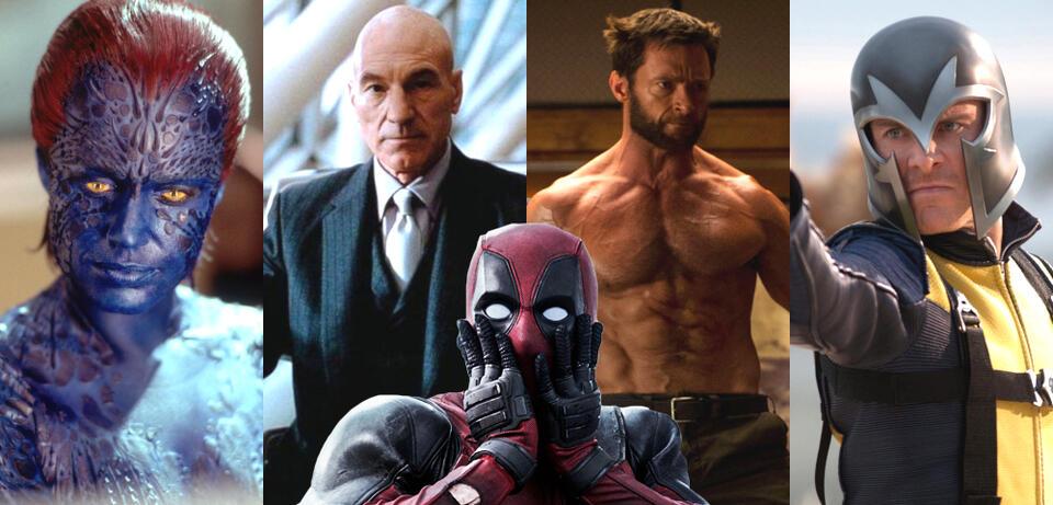 Verschiedene Mitglieder des X-Men-Franchise