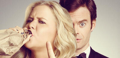 Amy Schumer und Bill Hader in Dating Queen