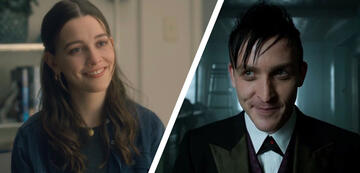 Victoria Pedretti (links) in Spuk in Hill House und Robin Lord Taylor (rechts) in Gotham