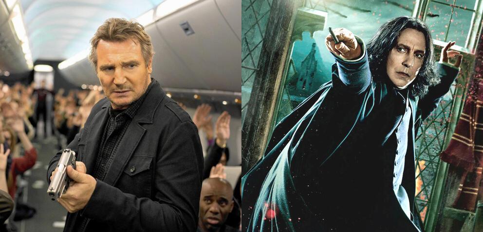 Liam Neeson und Alan Rickman