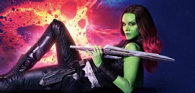 Zoe Saldana als Gamora ausGuardians of the Galaxy