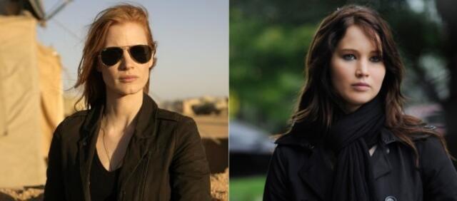 Jessica Chastain unterstützt Jennifer Lawrence.