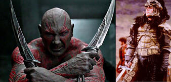 Dave Bautista in Guardians of the Galaxy / Clancy Brown in Highlander