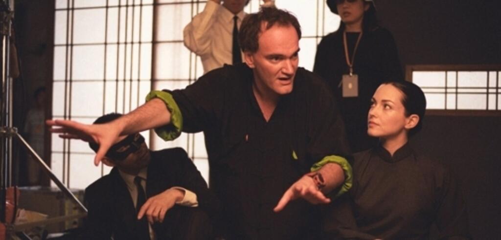 Quentin Tarantino am Set von Kill Bill