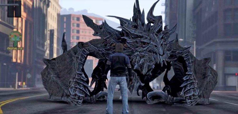 GTA trifft in diesem brandheißen Video auf Skyrim