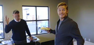 Chris Pratt beim Catering