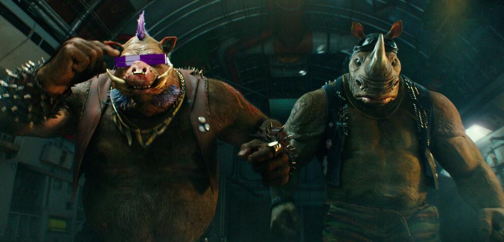 Bebop und Rocksteady in Teenage Mutant Ninja Turtles 2
