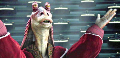 Jar Jar Binks in Star Wars: Episode II - Angriff der Klonkrieger