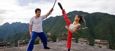 Jackie Chan und jaden Smith in The Karate Kid