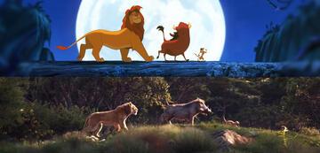 Der König der Löwen: vorher und nachher