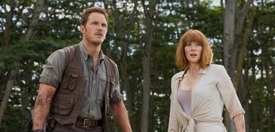 Jurassic World mit Pratt und Howard