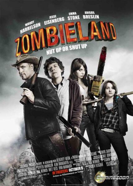 Zombieland mit Emma Stone, Woody Harrelson, Jesse Eisenberg und Abigail Breslin