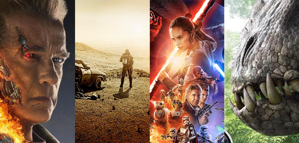 Terminator 5, Mad Max 4, Star Wars 7, Jurassic World