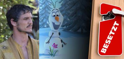 Pedro Pascal in Game of Thrones und Olaf aus Die Eiskönigin