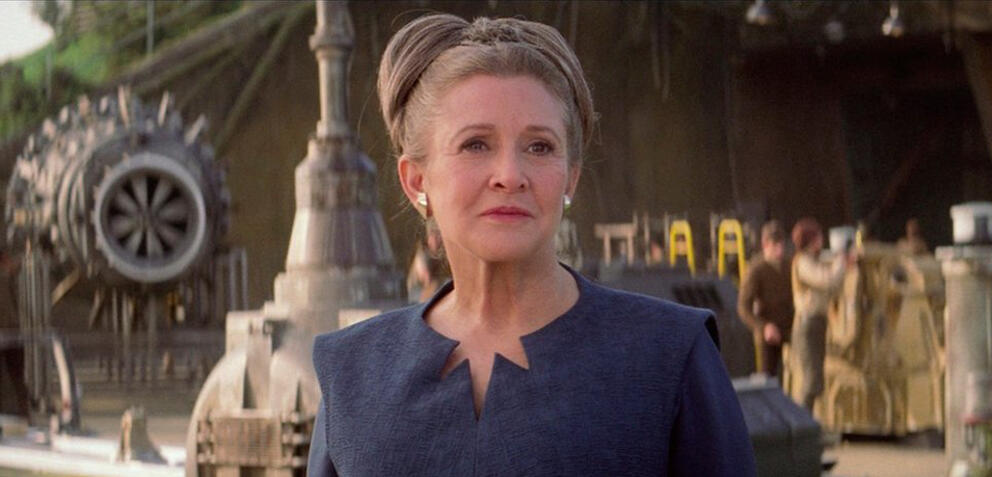 Carrie Fisher als Leia in Star Wars