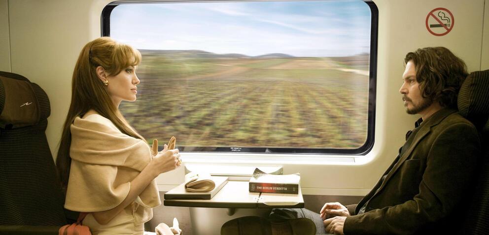 Angelina Jolie an der Seite von Johnny Depp in The Tourist