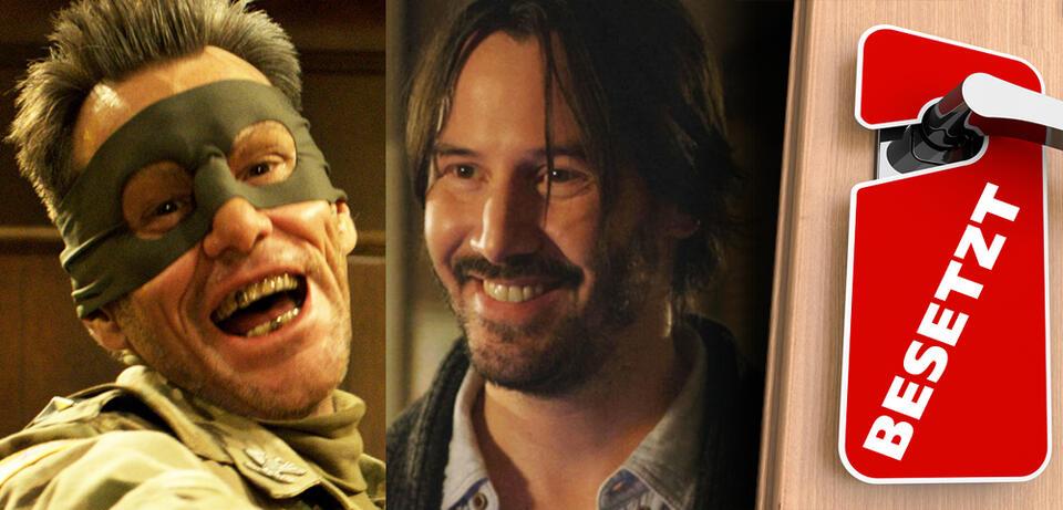 Jim Carrey in Kick-Ass 2 &Keanu Reeves in Knock Knock