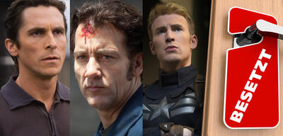 Christian Bale in The Dark Knight / Clive Owen in Blood Ties / Chris Evans in Captain America: The Return of the First Avenger