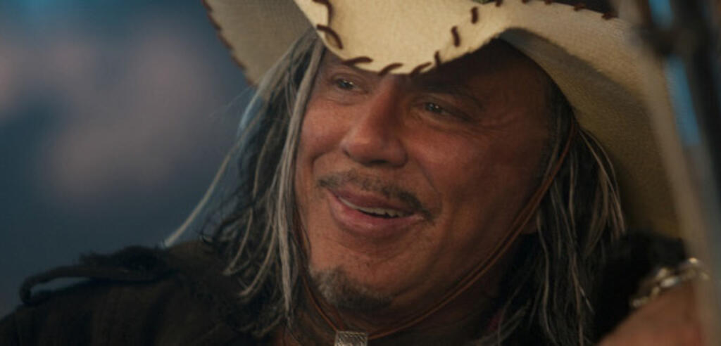 Mickey Rourke in The Expendables