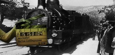 Die Ankunft eines Zuges auf dem Bahnhof in La Ciotat