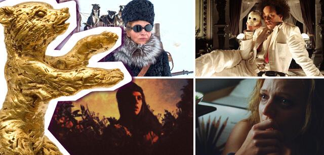 Im Uhrzeigersinn: Nobody Wants the Night,Eisenstein in Guanajuato, Queen of Earth, The Forbidden Room