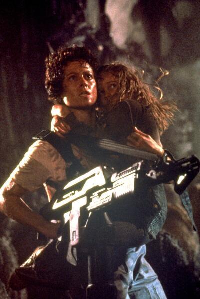 Aliens - Die Rückkehr mit Sigourney Weaver und Carrie Henn