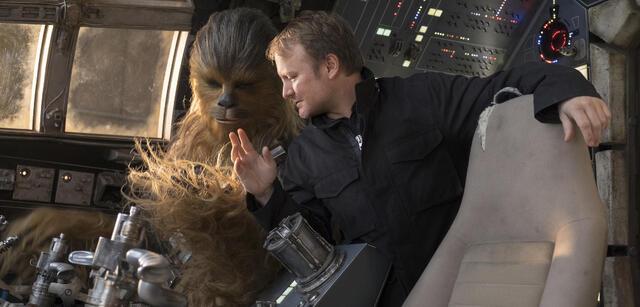 Rian Johnson am Set von Star Wars: Episode VIII - Die letzten Jedi