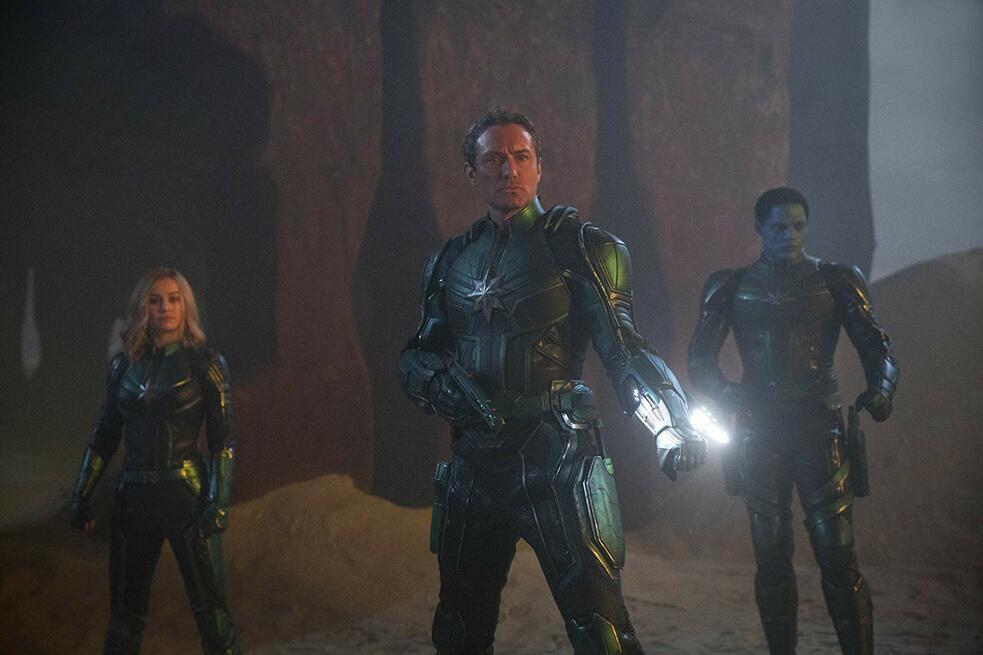 Captain Marvel mit Jude Law, Brie Larson und Algenis Perez Soto