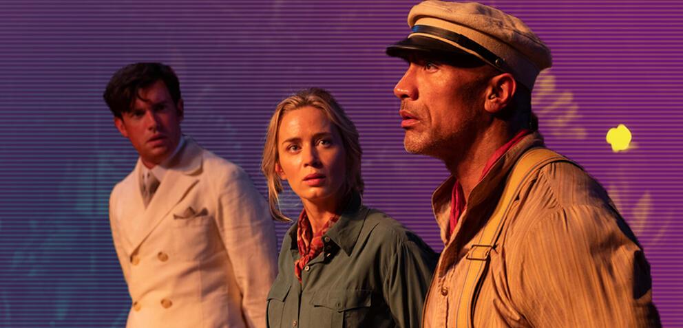 Dwayne Johnson und Emily Blunt in Jungle Cruise