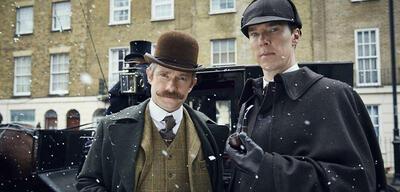 Martin Freeman und Benedict Cumberbatch im Victorian Special von Sherlock